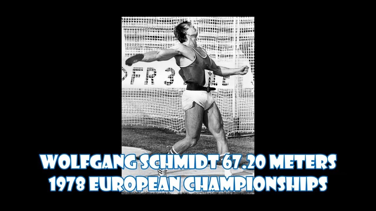 Wolfgang Schmidt Discus 67.20 meters at the 1978 European Championships