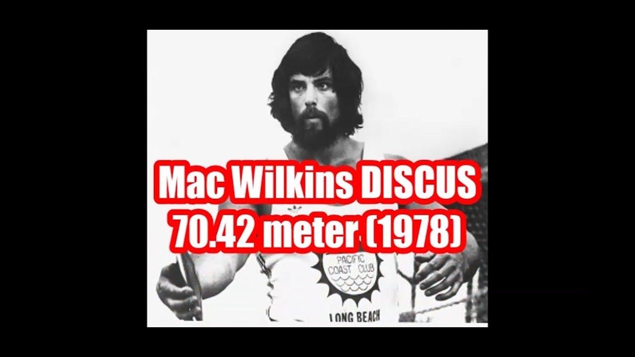 Mac Wilkins (USA) 70.42 meters DISCUS 1978 (10 x over 70 meters)