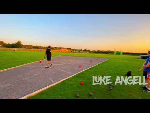 Ben East & Liam Cawley 2.72 backwards overhead throw. 22m