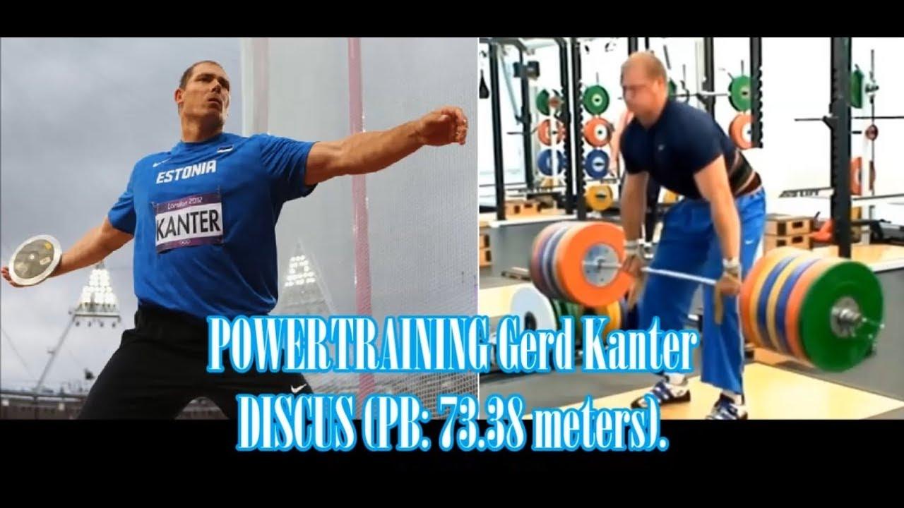 POWERTRAINING Gerd Kanter (Estonia) discus thrower (PB: 73.38 meters).